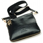 Calmoon 831 Men's Genuine Cow Leather Shoulder Bag - Black