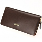 Calmoon 759 Men's Genuine Cowhide Leather Handbag Zip Fastener Wallet - Brown