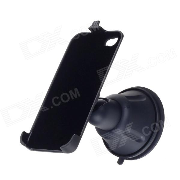 S2224W-V ABS Suction Cup 360 Degree Rotatable Stand Holder for Iphone 4/4S - Black