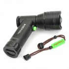 UniqueFire UF-T18 1200lm 5-Mode Memory White Flashlight w/ 3 x Cree XM-L T6 - Black (2 x 18650)