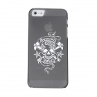 Skull Pattern Protective PVC Plastic Case for Iphone 5 - Dark Gray