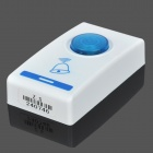 ZHISHAN 304D Wireless Digital Remote Control Doorbell - White + Translucent Blue