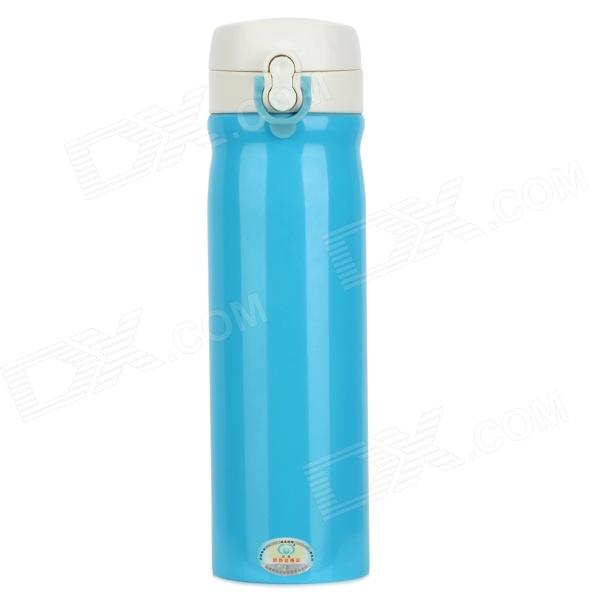 SL-2328-500-LANSE Stainless Steel Vacuum Cup / Thermos - Sky Blue + White (500mL)
