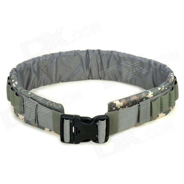 SW3057 Military Tactical Outdoor Nylon Oxford Fiber Waist Belt - ACU Camouflage Color