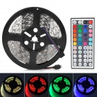 60W 1500lm Decoration 5050 300-SMD RGB Light Strip w/ 44-Key Remote Controller - White (5m)