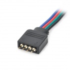 4-pinos macho cabo conector para 5050 RGB LED Strip