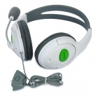 Professional Game Headphones w/ Microphone for Xbox360 / Xbox360 Slim - White + Grey (110cm-Cable)