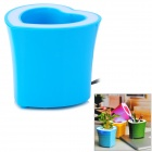 BL-2021 LED Flowerpot Pen Container Style USB Powered Music Speaker - Blue