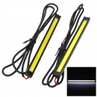 6W 8000K 480lm White Light Car Daytime Running Lights - Black + Yellow (DC 12~16V / 2PCS)