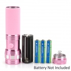 14-0 14-LED 30~50lm Cool White Fashionable Anti-Slip Flashlight - Pink (3 x AAA)