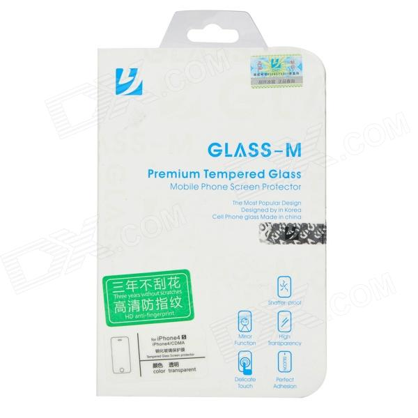 Protective Toughened Glass Front Screen Guard for Iphone 4 / Iphone 4S - Transparent protective crystal screen protector guard for iphone 4 4s transparent