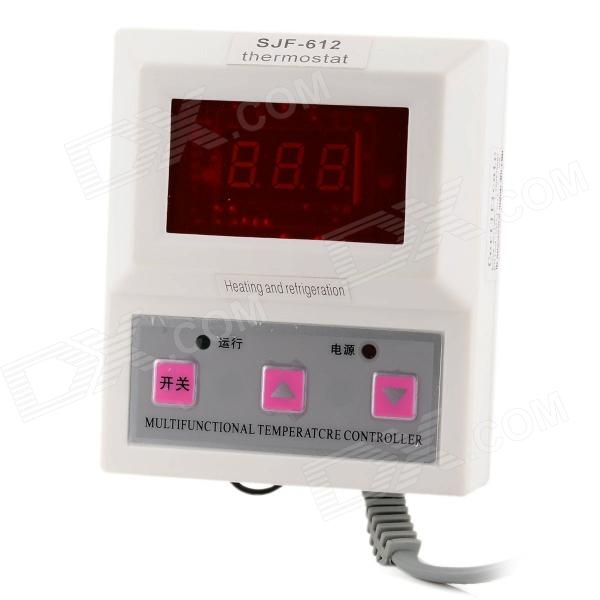 SJF-612 1.4 LCD Red Light Intelligent Digital Thermostat / Temperature Controller - White + Grey boiler thermostat regulator circulating temperature controller switch adjustable temperature controller 220v