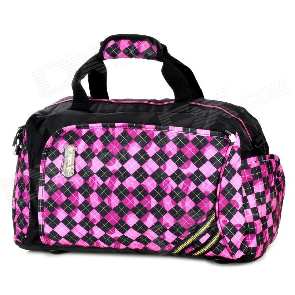 DaPai Nylon Hand Bag Travelling Bag - Deep Pink + Black