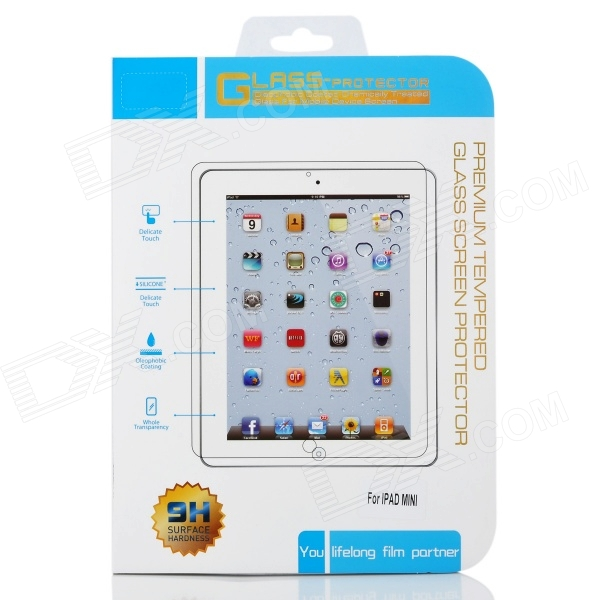 Protective Toughened Glass Front Screen Guard for Ipad MINI - Transparent