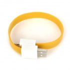CUN-8 PVC USB 2.0 Male to 8pin Lightning Magnetic Flat Data / Charging Cable for iPhone 5 - Yellow