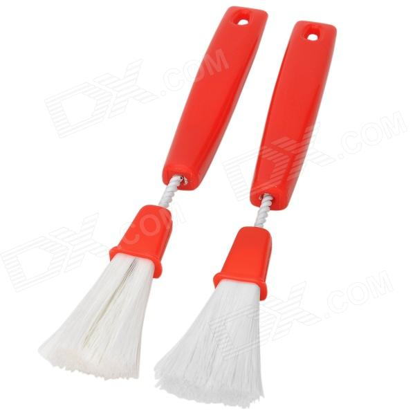 YB13041704X Car Air Conditioner Vent Cleaning Brushes Set - Red + White (2 PCS)