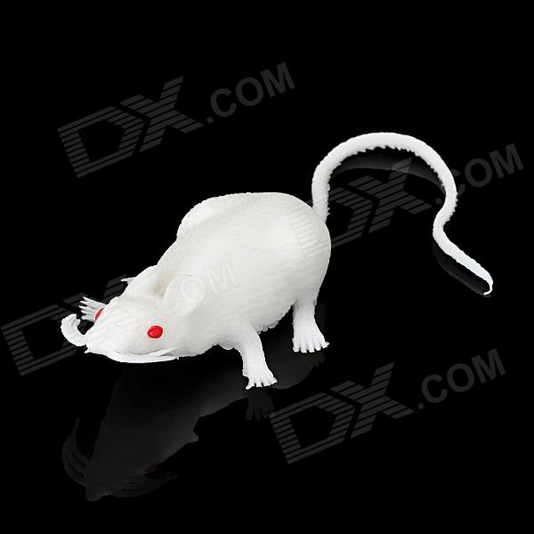 Cute Lifelike Silicone Mouse Toy - White