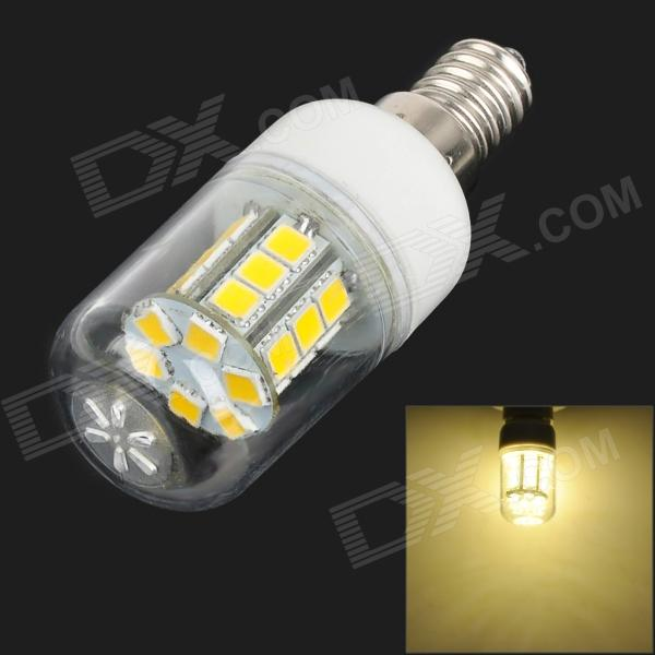 SENCART E14 4W 250~300lm 3500K 24-SMD 5060 LED Warm White Bulb - Transparent