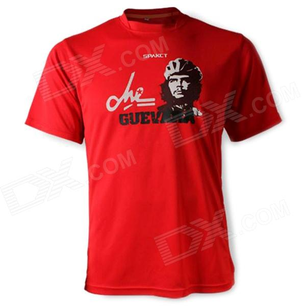 SPAKCT FREE3 Polyester Fiber Short Sleeve Men's Cycling T-Shirt - Red (XXL-Size)