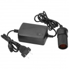 FXA036 Car Cigarette Lighter Plug AC / DC Adapter Power Converter - Black