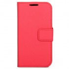 S-080R Protective PVC Case Flip Cover for Samsung Galaxy S4 - Red