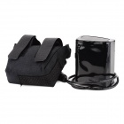 8.4V 6600mAh Rechargeable 18650 3P2S Lithium-ion Battery Pack for Bicycle Light - Black