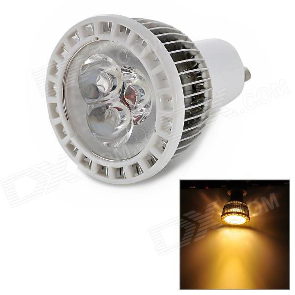 3W 250lm 3500K 3-LED Warm White Spotlight (AC 90~240V) gu10 3w 250lm 6000k 9 5730 led white light spotlight cup white ac 100 240v