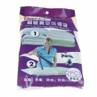 TAILI AY001 Compression Vacuum Storage Bag for Bedding w/ Pump - Blue (2 PCS)