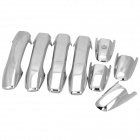 Car Door ABS Handle Cover - Silver (4PCS)