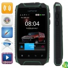 "Uphone H1 Android 2.3.6 Ultra-Rugged GSM Phone w/ 3.5"" Capacitive, Dual-Band and Wi-Fi - Green"