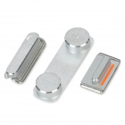 3-in-1 Power / Volume / Mute Switch Buttons Set for Iphone 5 - Silver