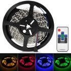 72W 3600lm 5050 300-SMD RGB Light Strip w/ Remote Controller + Power Adapter Set - White + Black