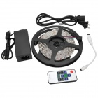 72W 3600lm 5050 300-SMD RGB luz de tira w / Remote Controller + Power Adapter Set - Blanco + Negro