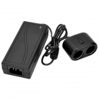 FXA038D 60W Double Car Cigarette Lighter Plug AC / DC Adapter Power Converter - Black