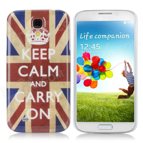 Stylish Union Flag Pattern Protective PC Back Case for Samsung Galaxy S4 i9500 - Blue + Scarlet protective cute spots pattern back case for samsung galaxy s4 i9500 multicolored