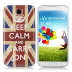 Stylish Union Flag Pattern Protective PC Back Case for Samsung Galaxy S4 i9500 - Blue + Scarlet