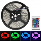 Waterproof 36W 1200lm 150-SMD 5050 RGB Light Strip w/ Driver / Remote Controller Kit (5m / DC 12V )