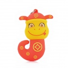Taou T-002 Cartoon Snake Style USB 3.0 Flash Drive - Red + Yellow (8 GB)
