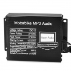 D13022701X Motorcycle Anti-Theft MP3 Audio Alarm Speaker w/ Remote Controller - Transparent