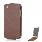 HOCO Classic Litchi Pattern Protective Leather + PC Case for Samsung Galaxy S4 i9500 / i9508 - Brown