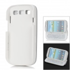 (VR)Slide-out Standing Bluetooth V3.0 50-Key Keyboard Hard Case for Samsung Galaxy i9300 - White