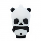 Square Panda Style USB 2.0 Flash Drive - Black + White (16GB)
