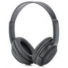 3-In-1 Wireless Bluetooth V3.0+EDR Stereo Headphone w/ TF / FM / Microphone - Black