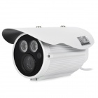 HRT-1004 Waterproof 1/3 CCD 1.3MP Surveillance Security Camera w/ 2-IR LED / PAL - White