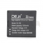 DEJI DJ-BL-5K Replacement 3.7V 1250mAh Li-ion Battery for Nokia 2610S / N85 / N86 / X7-00 - Black