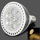 SQ-H315 E27 7W 600 ~ 700lm 3000 ~ 3500K Warm White Light 5-SMD LED-Strahler - Silber