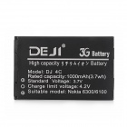 DEJI DJ-BL-4C Replacement 3.7V 1000mAh Li-ion Battery for Nokia 6300 / 6100 / 8208C / X2-00 - Black