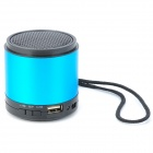 HS-V20 Aluminum Alloy Media Player Speaker w/ FM / TF / Mini USB - Blue + Black