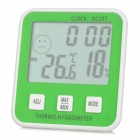 "DC-107 3.0"" LCD Digital Hygrometer / Thermometer - Green + White (1 x AAA / -10'C~50'C / 20%~95% RH)"