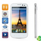 "MIZ Z1 Android 4.2 WCDMA Quad-Core Phone w/ 4.5"" Capacitive Screen, Wi-Fi, GPS and Dual-SIM - White"